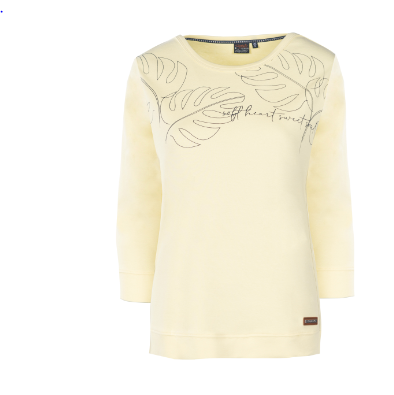 Leichtes Sweatshirt mit Blätterprint.
