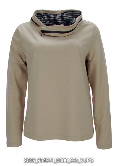 Sweatshirt mit Zip-Kragen