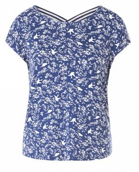 T-Shirt mit Allover-Druck.