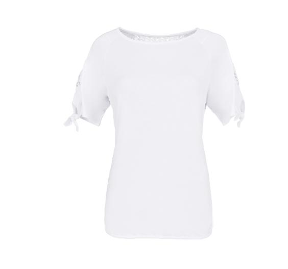 T- Shirt mit Spitzeneinsatz