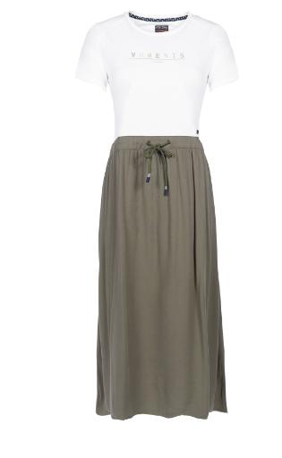Midi-Kleid mit schwungvollen Rock