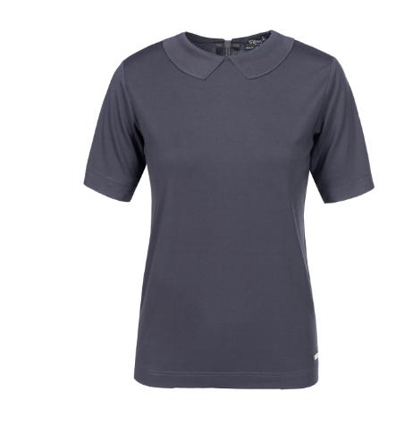 T-Shirt mit femininem Peter Pan Kragen