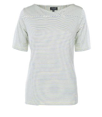 T-shirt mit überlappenden V-Neck.