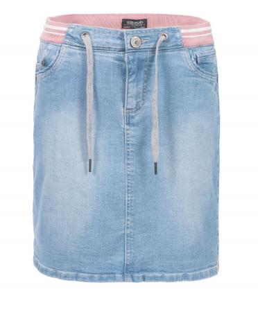 Jeansrock aus elastischer Baumwolle.