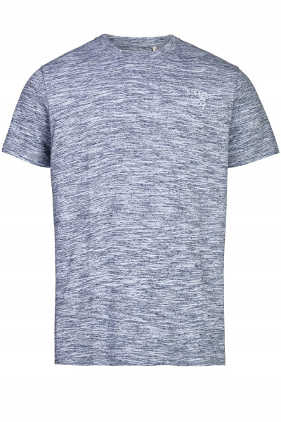 T-Shirt in Melange-Optik