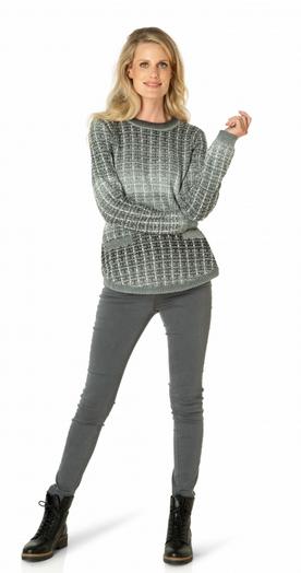 Pullover aus Jacquard.