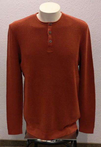 Strick-Pullover mit Knopfleiste