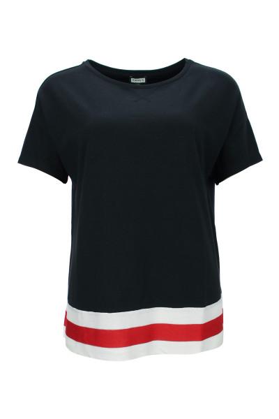 boxy Shirt mit Bordüre