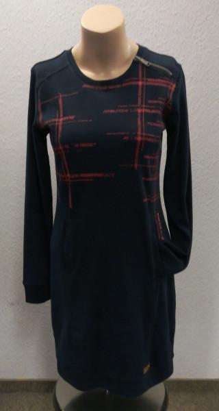 Damen-Langarm-Kleid Janka mit roten Akzenten